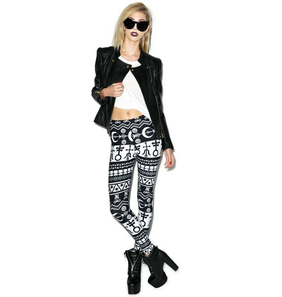 Aztec Occult Addicted Leggings