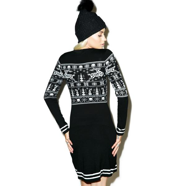 Sourpuss Clothing Sleigh Me Sweater Dress