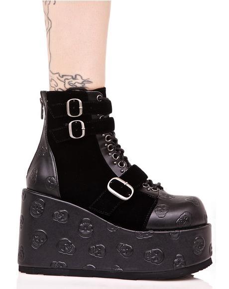 Vertex Buckled Boots