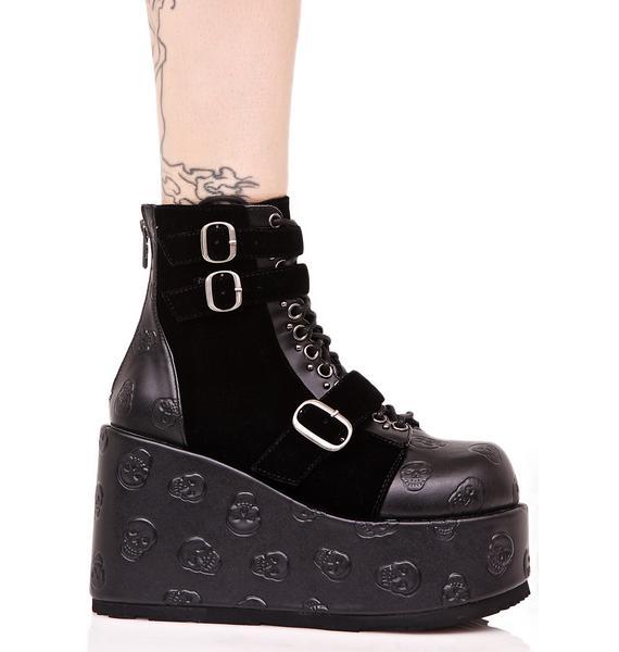 Demonia Vertex Buckled Boots