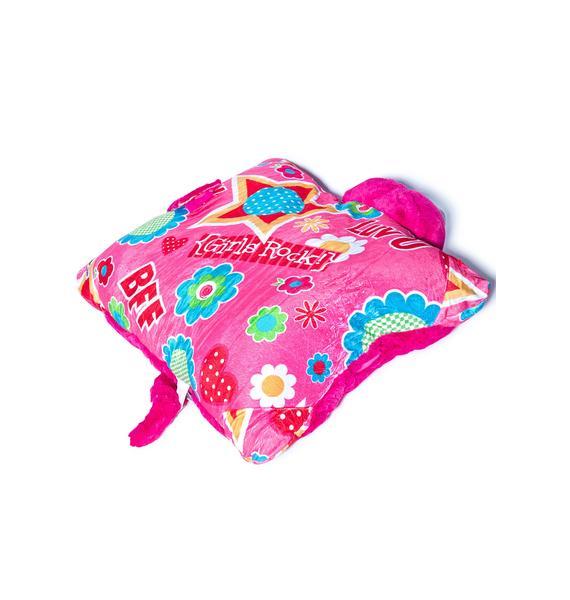 Pillow Pets Jumboz Flower Power Cat Pillow