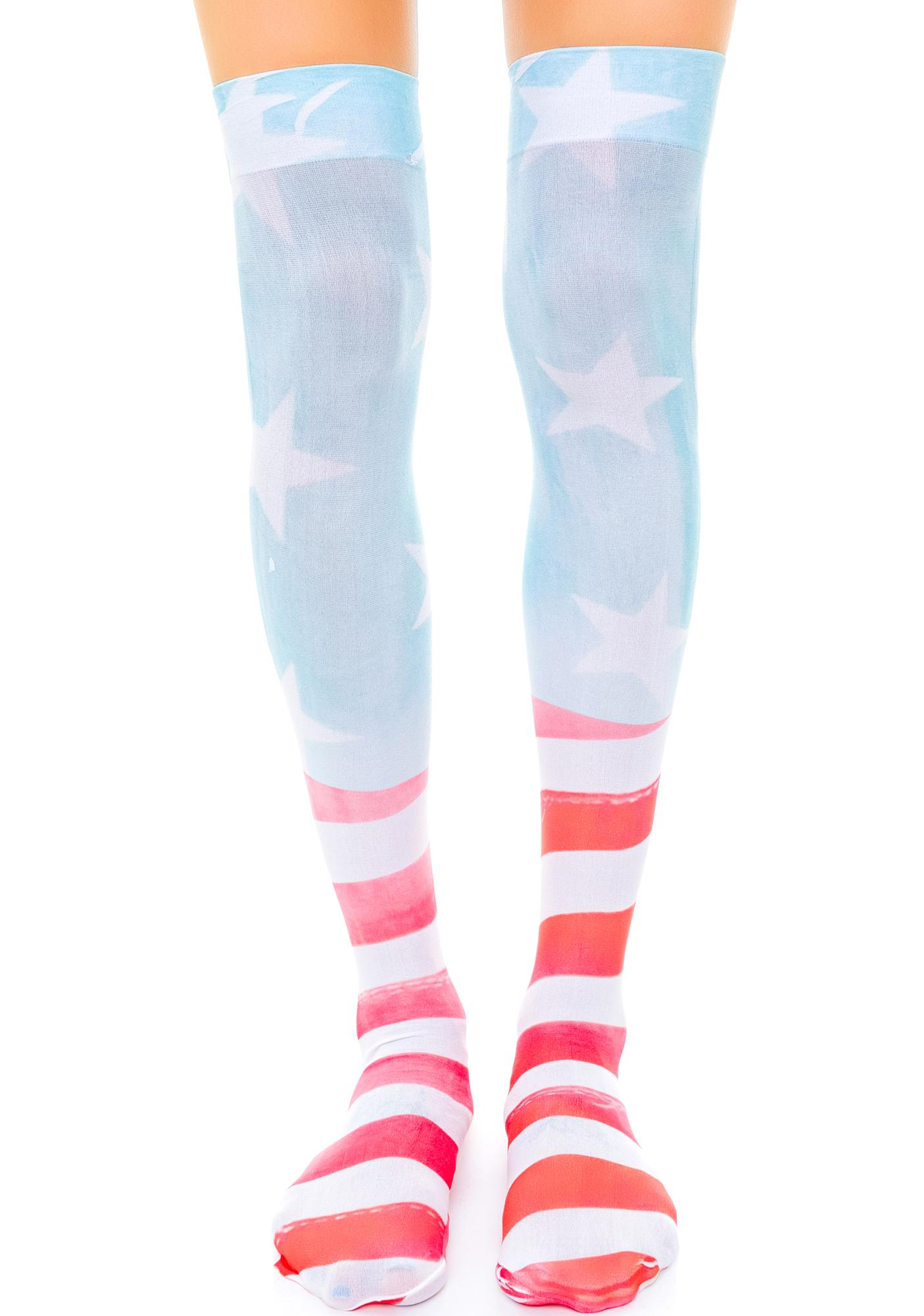Private Arts American Dream Thigh High Sox