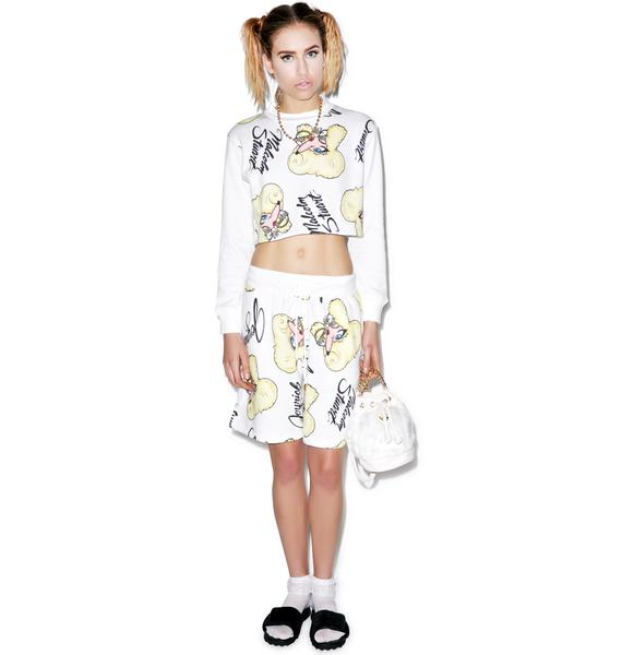 Joyrich Rich Bitch Cropped Crew Pullover