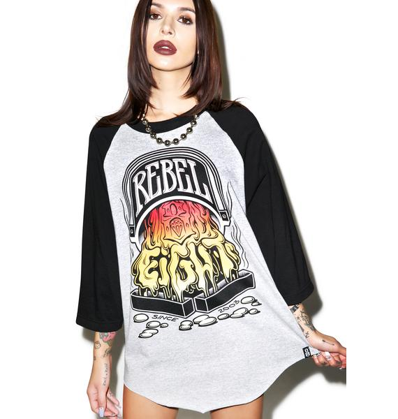 Rebel8 Pouring The 8 Raglan