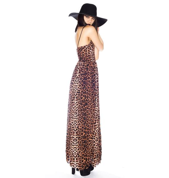 One Teaspoon Surrender Leopard Maxi Dress
