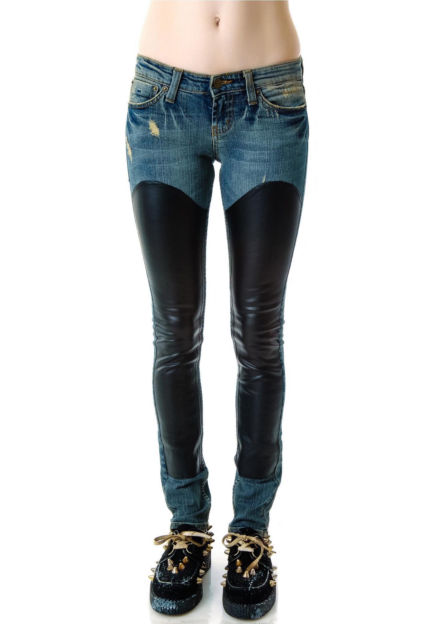 JET by John Eshaya Denim Chap Jeans