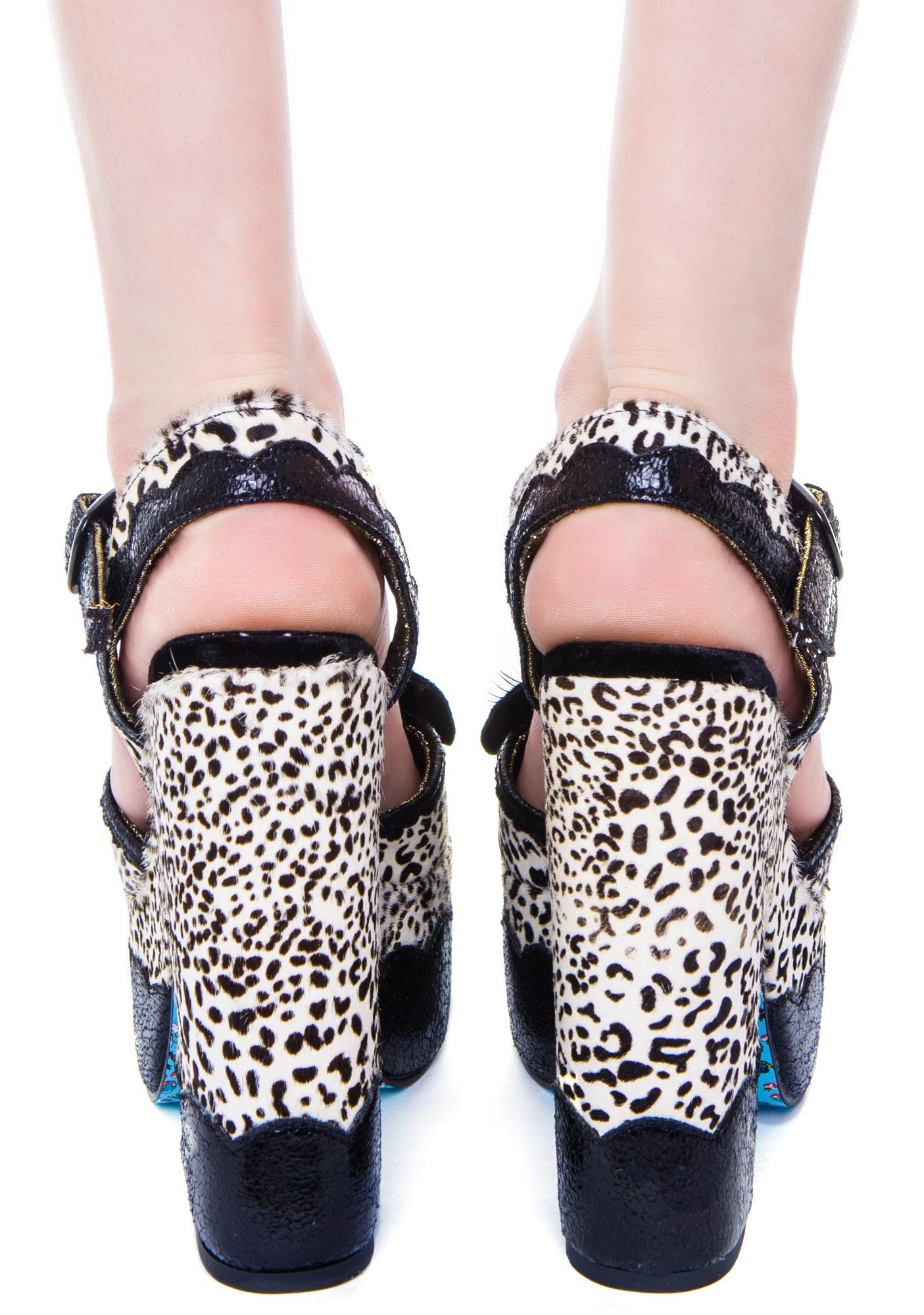 Irregular Choice Marble Moose Heels