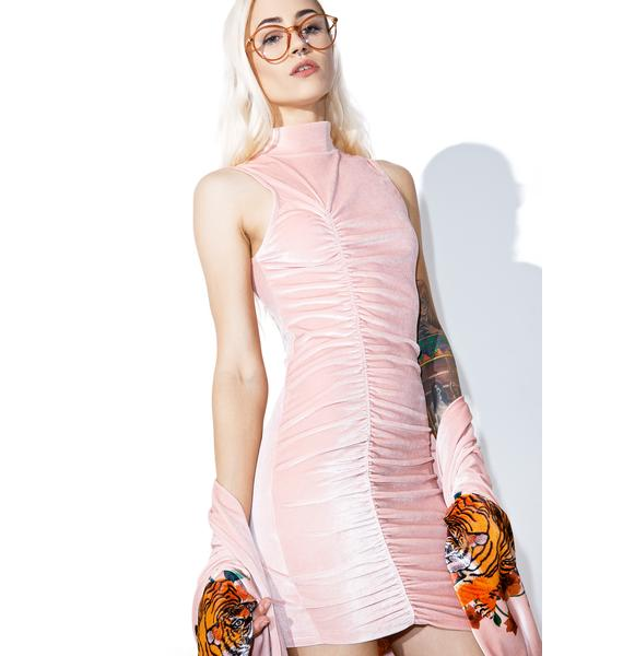 Jaded London Ruched High Neck Dress