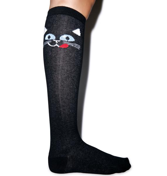 Choupette Knee High Socks