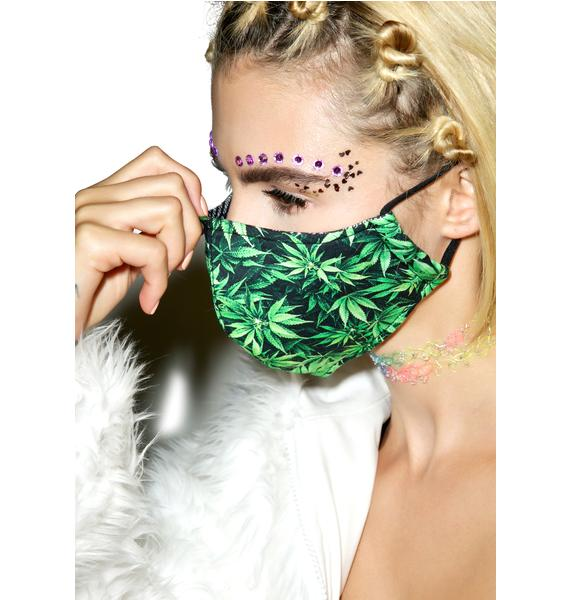 Leaf Me Alone Face Mask