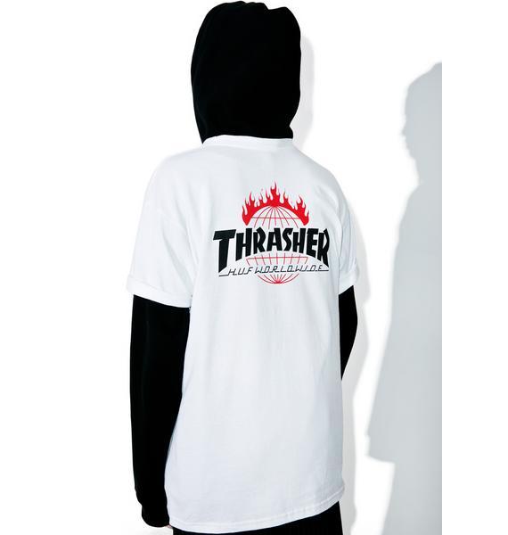 HUF X Thrasher Tour De Stoops Tee