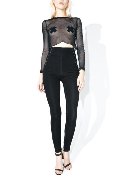 Side To Side Corset Pants