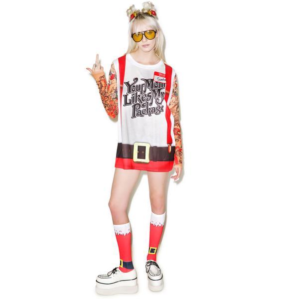 Sleazy Santa Tattoo Tee