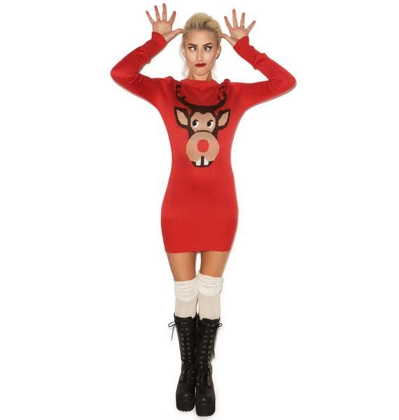 Tipsy Elves Buckin' Around Rudolph Sweater