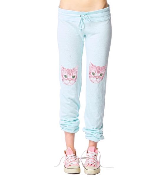 Wildfox Couture Party Cat Malibu Skinny Sweat Pants