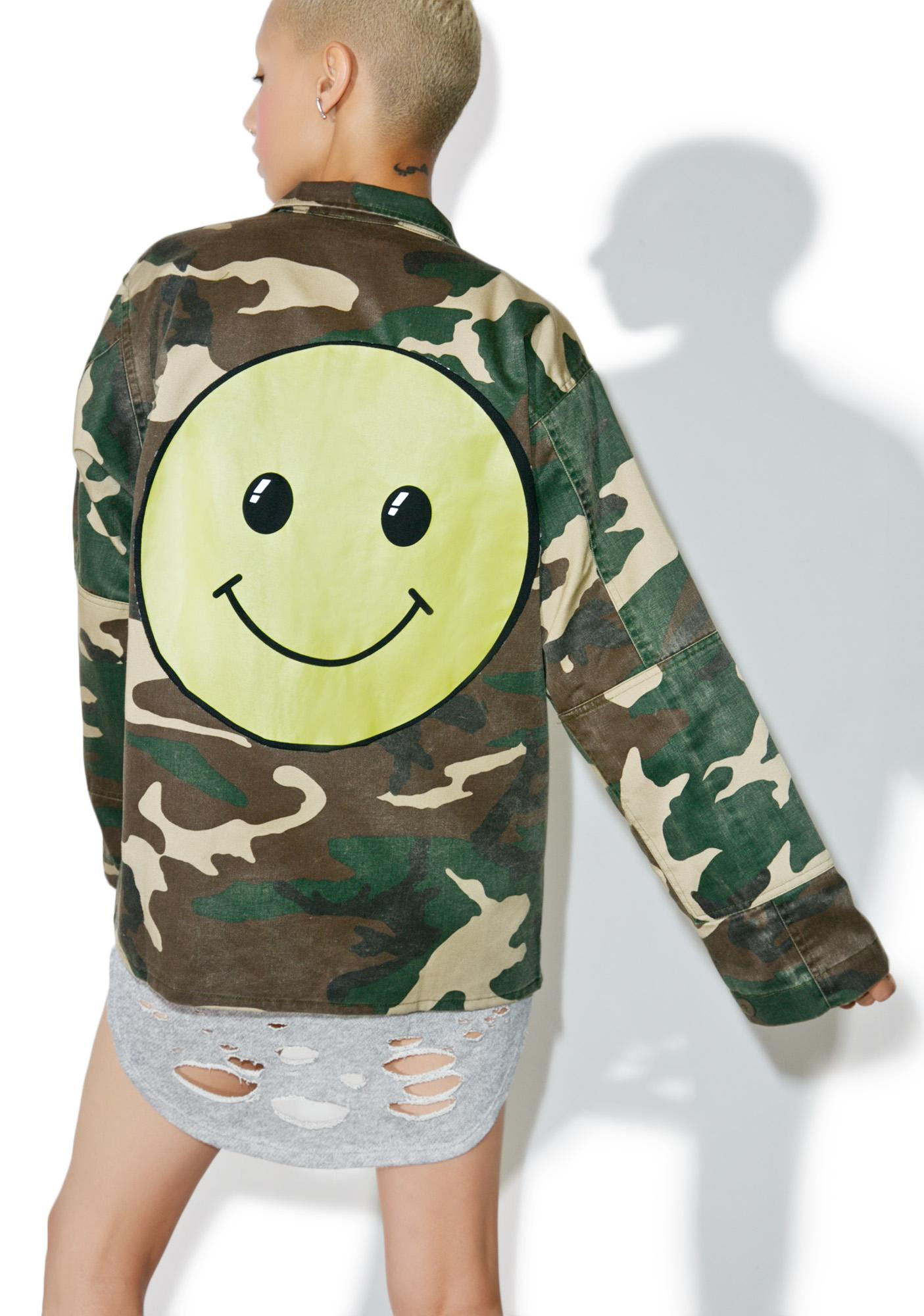 Mr.Smiley Camouflage Jacket
