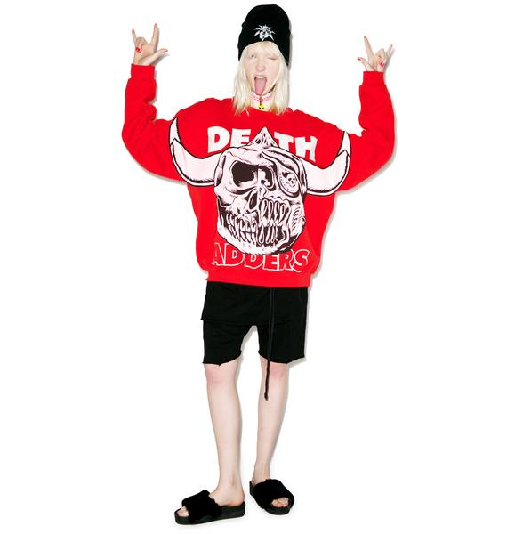 Mishka Bootleg Horns Crew Neck Sweater
