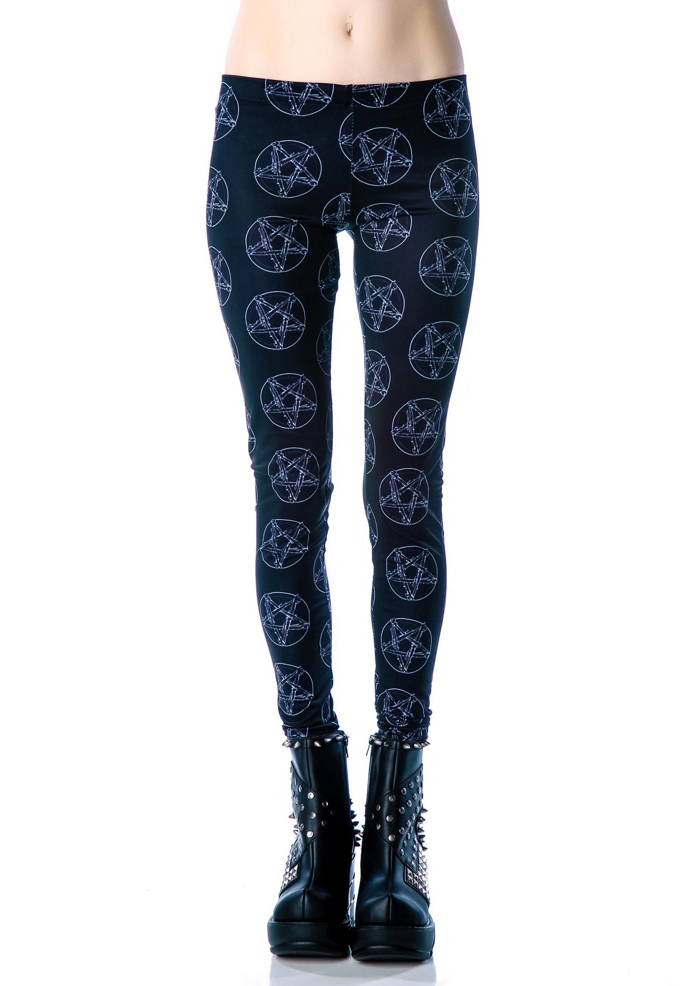 No Rest for the Wicked Pentagram Leggings