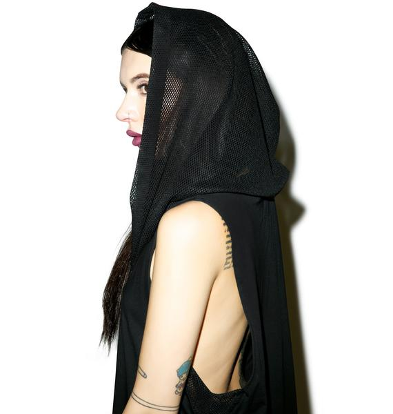 Widow Blasphemy Hooded Dress
