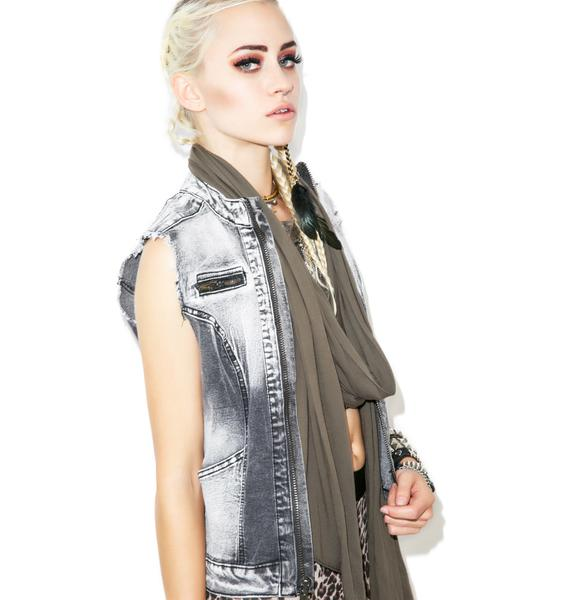 Lip Service Washed Out Denim Vest