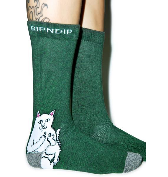 RIPNDIP Don't Fux With Cats Socks
