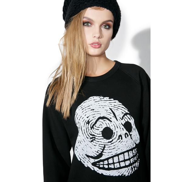 Cheap Monday Rules Skull Sweatshirt