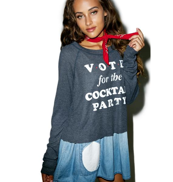 Wildfox Couture Happy Hour Vote Monte Crop Sweater