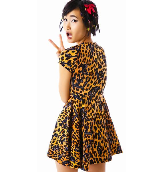 Joyrich Tune Leopard Skater Dress