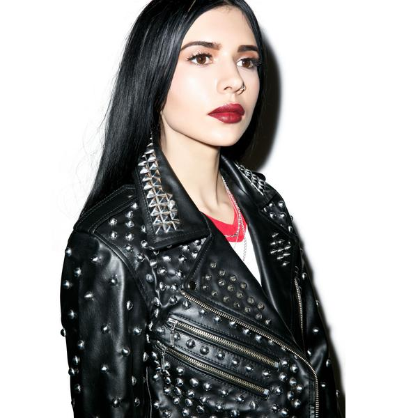 Killstar Vicious Vegan Studded Jacket