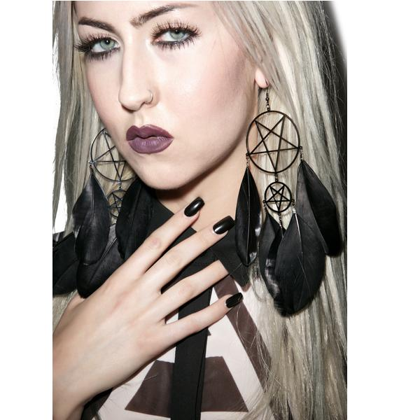 Killstar Nocturnal Dreamcatcher Earrings