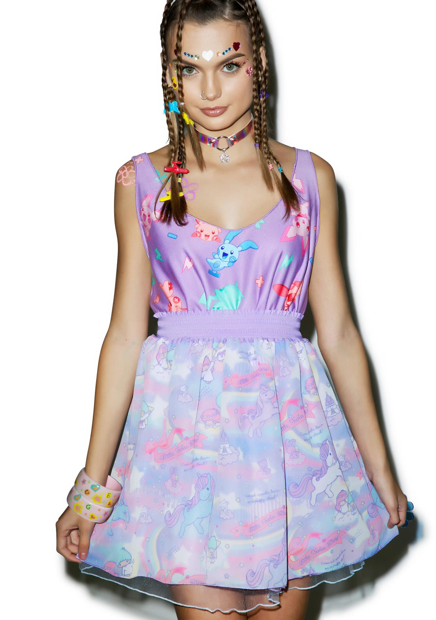 Japan L.A. Little Twin Stars Dreamy Unicorn Tulle Skirt