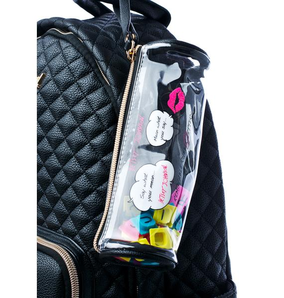 Betsey Johnson Buy A Vowel Backpack