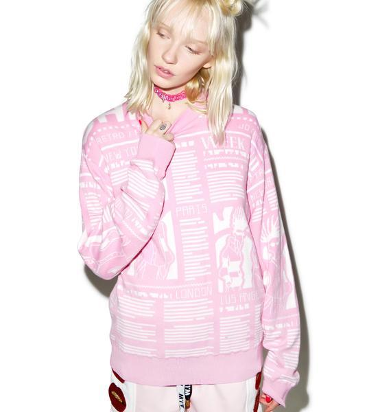 Joyrich Fashion News Knit Crew