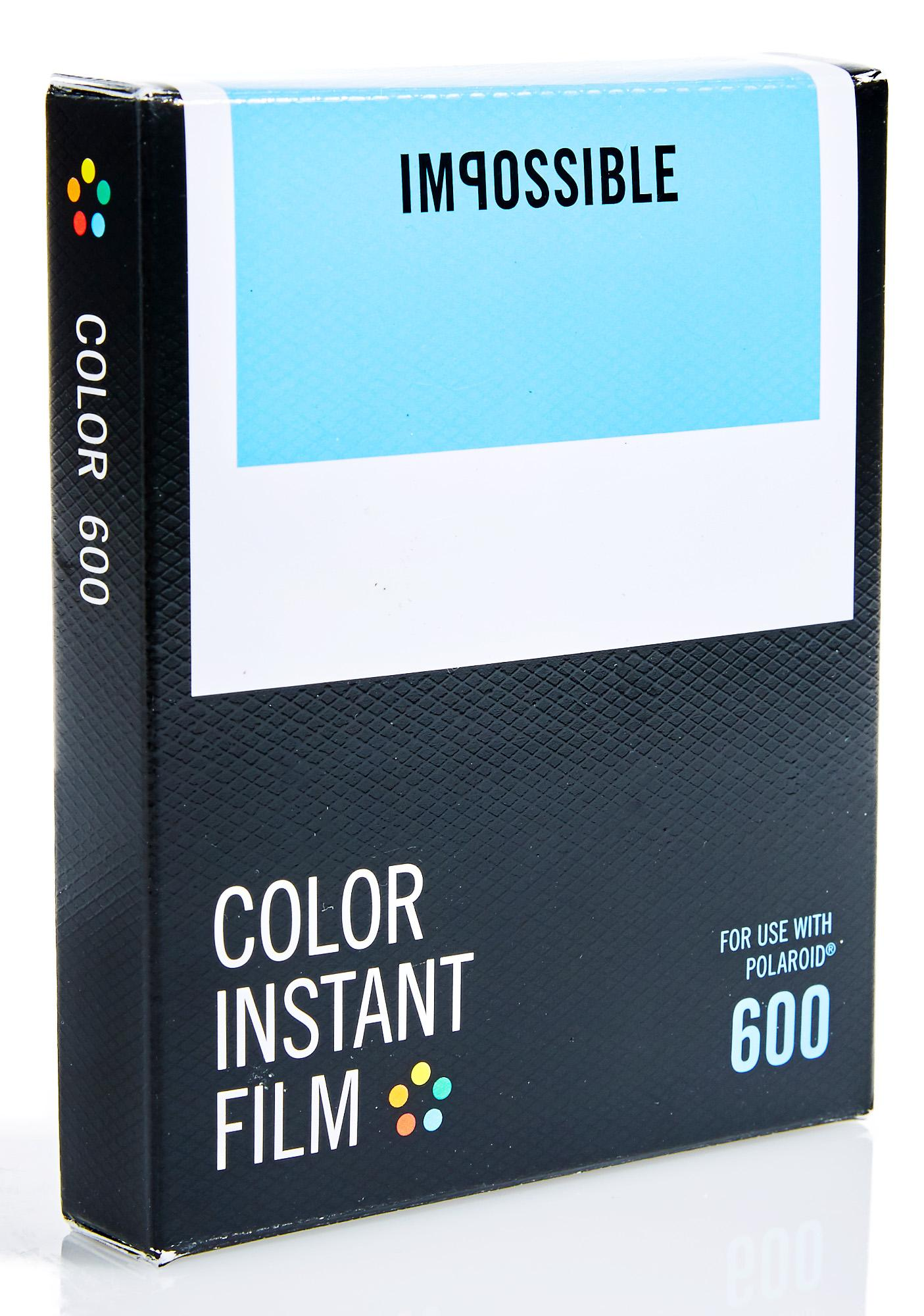 the impossible project film Impossible prd2959 color film for polaroid 600-type camera frame +  impossible project 4516 prd4516 polaroid 600 and instant lab film, black/ white.