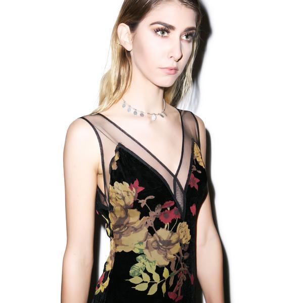 For Love & Lemons Dusty Rose Maxi Dress