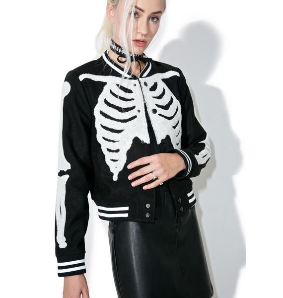 Iron Fist Wishbone Varsity Jacket
