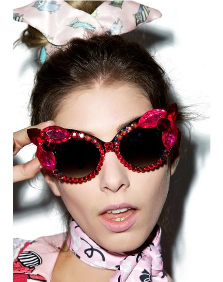 Magenta Sunglasses