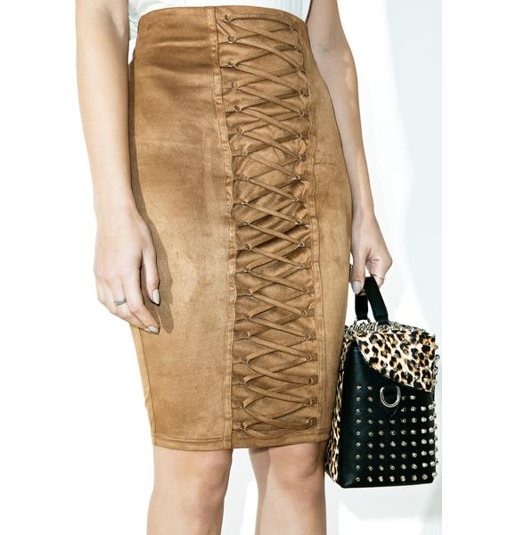 Carry On Lace-Up Skirt