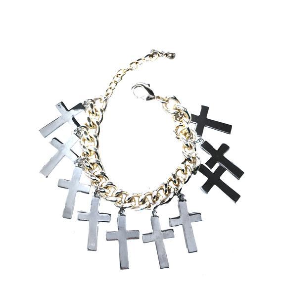 Rock n Rose Crossed Off Bracelet