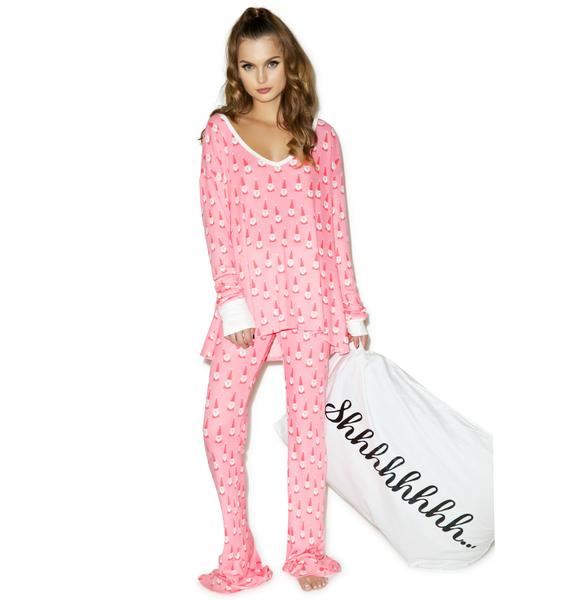 Wildfox Couture Santa Gnomes Polar Pajama Set