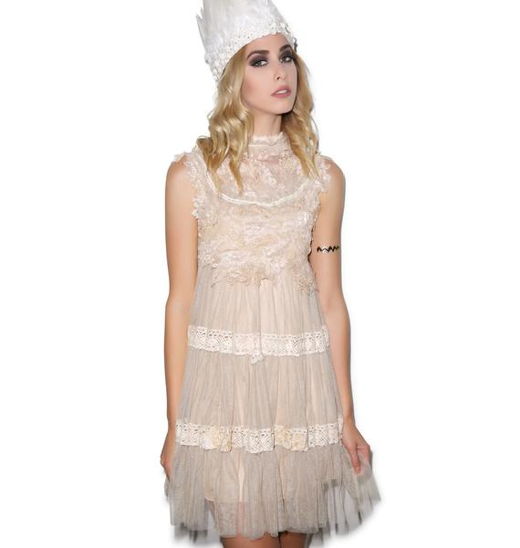 Dolly Bae Angelic Dress Beige