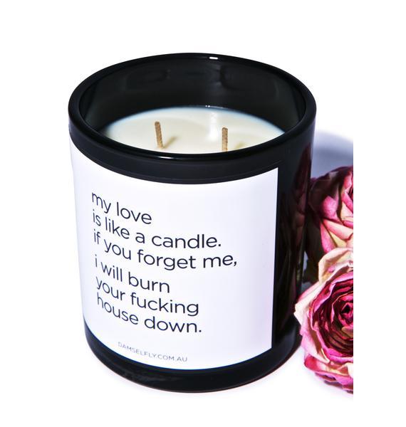 Damselfly My Love Is Like A Candle
