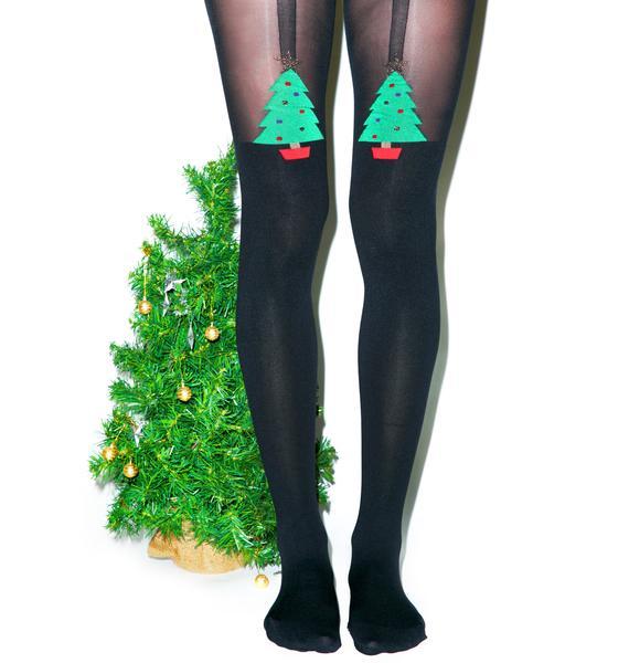 Pretty Polly Christmas Tree Tights