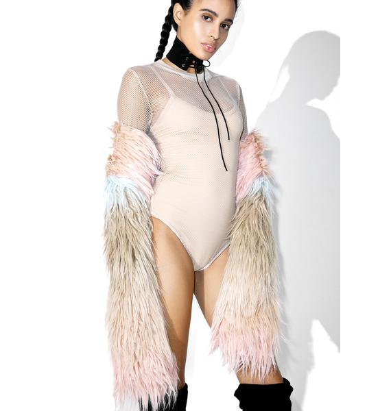 Send Nudes Fishnet Bodysuit