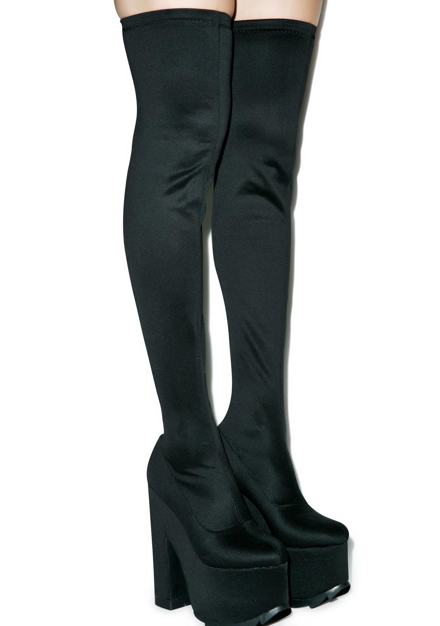 Thigh High Platform Boots - Boot Hto