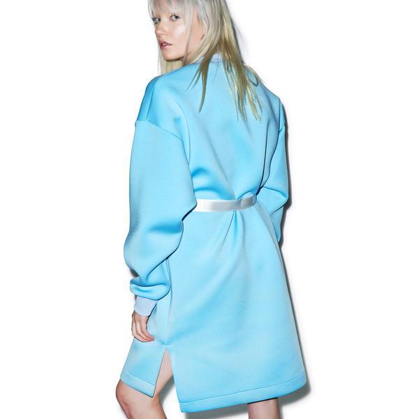 Somewhere Nowhere Blue Sky Neoprene Dress