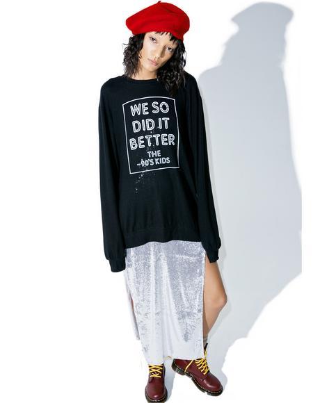 90s Kids Pullover Sweatshirt