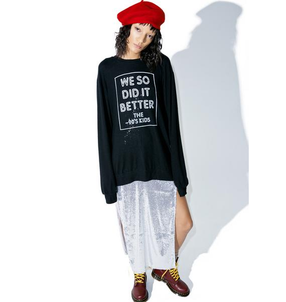 Social Decay 90s Kids Pullover Sweatshirt