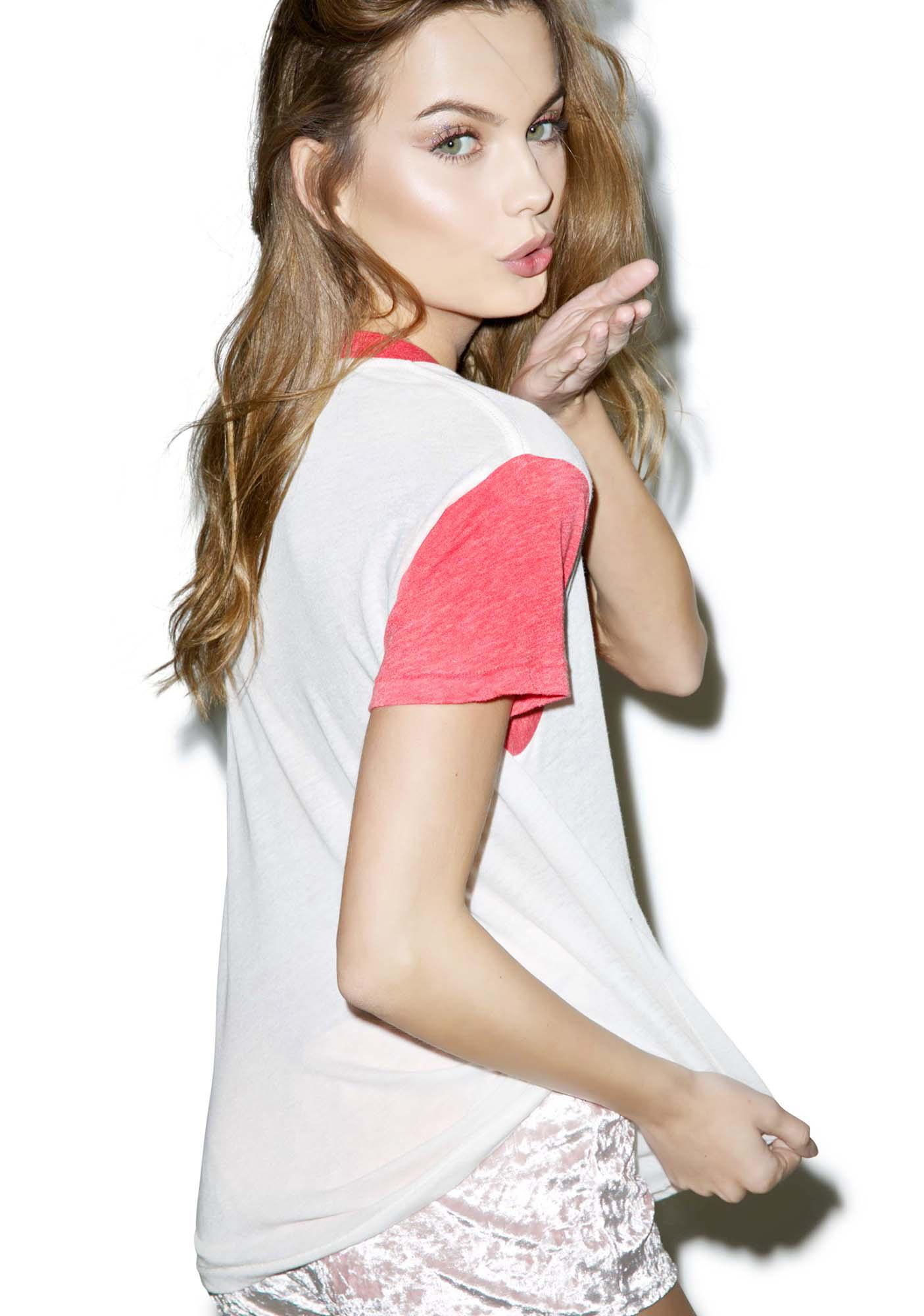 Wildfox Couture Kiss Her Woody Tee