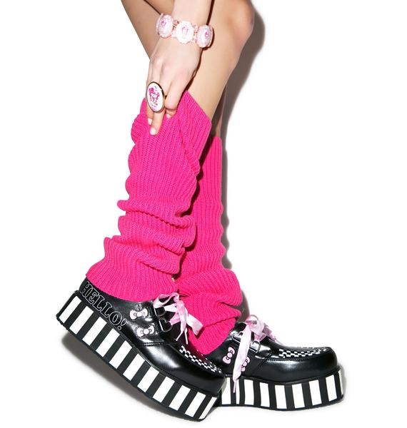 T.U.K. Pink Ribbon Hello Kitty Bow Creepers
